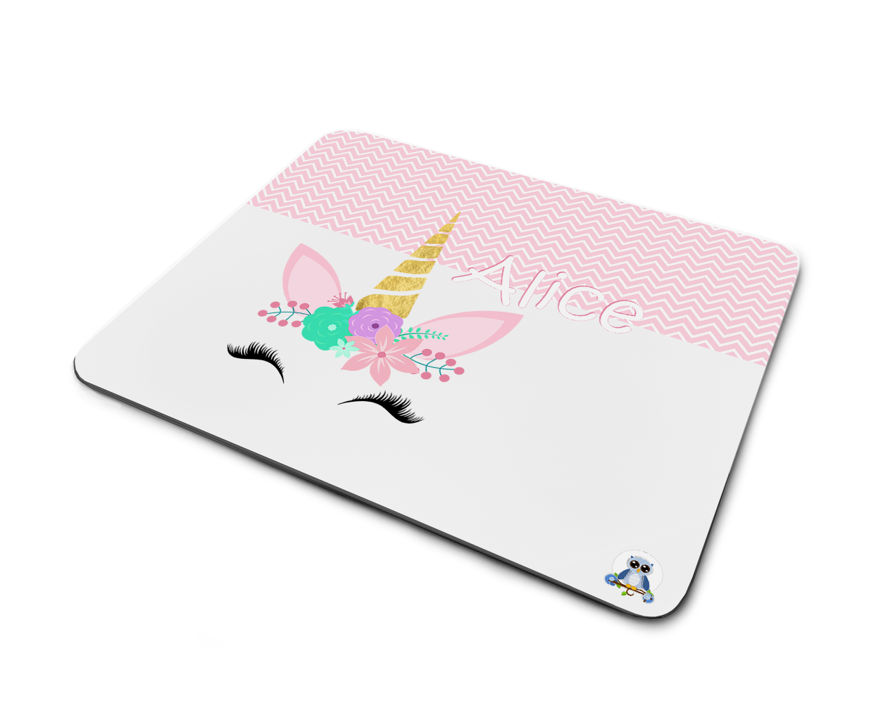 Personalizable Mouse Pad Office Decoration Cute Unicorn Head
