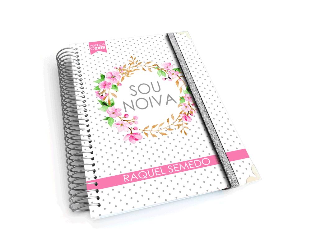 Agenda ou diário da noiva personalizado - padrão mármore