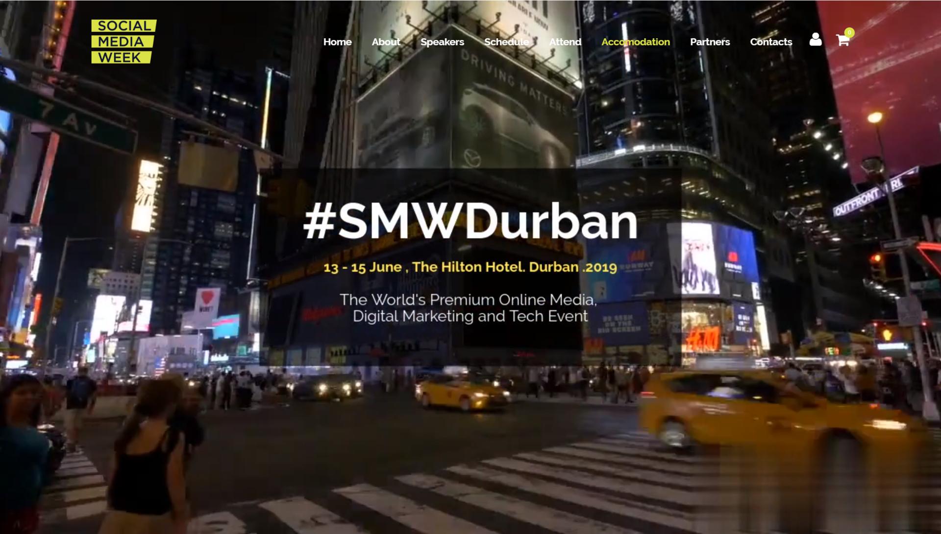 Homepage - Social Media Week Durban on 13 to 15 June 2019