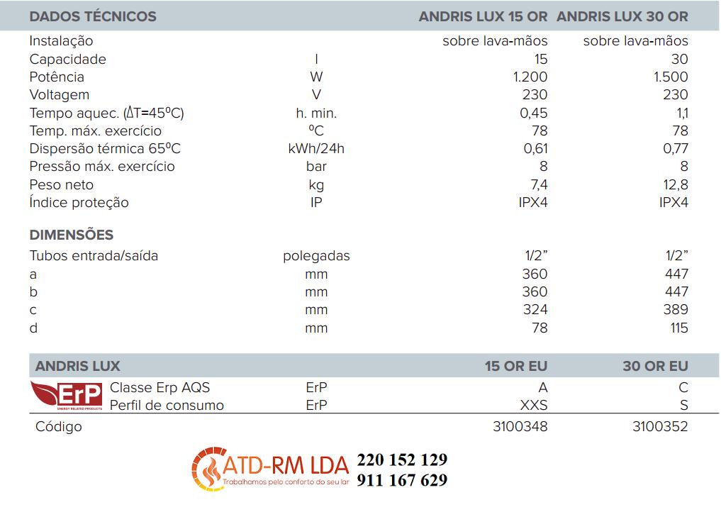 ARISTON ANDRIS LUX