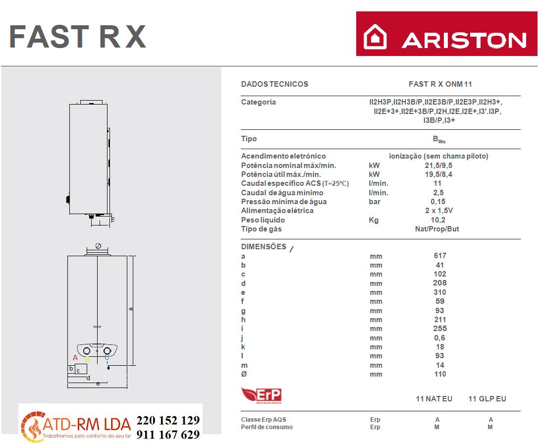 Esquentador Ariston Fast R X