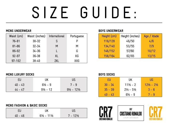 tabela tamanhos