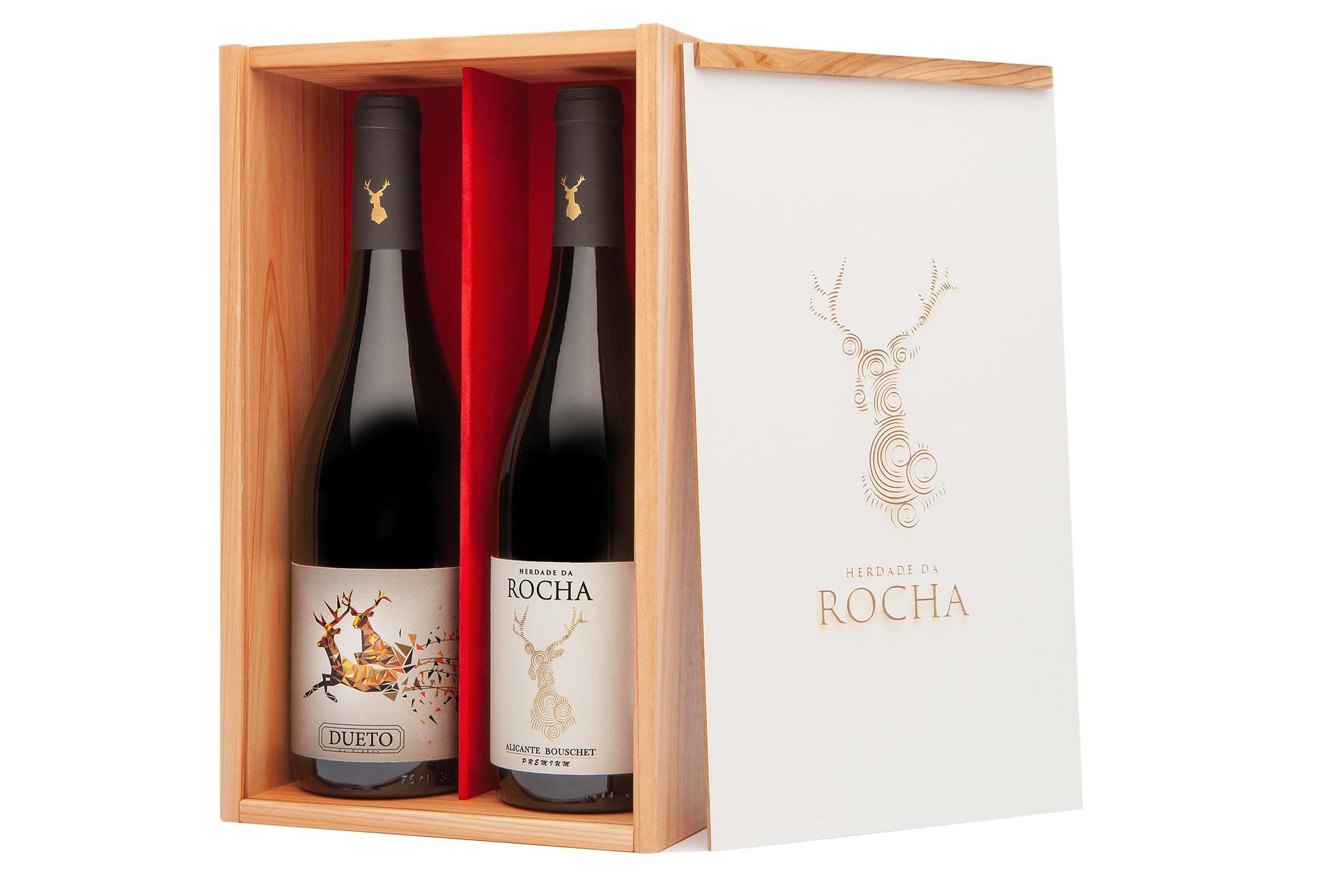 Pack 2 Garrafas - Herdade da Rocha Alicante Bouschet Premium + Dueto (Alentejo e Douro)