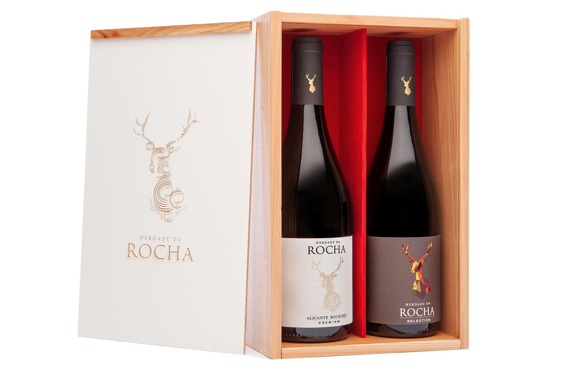 Pack 2 Garrafas - Herdade da Rocha Selection + Herdade da Rocha Alicante Bouschet Premium