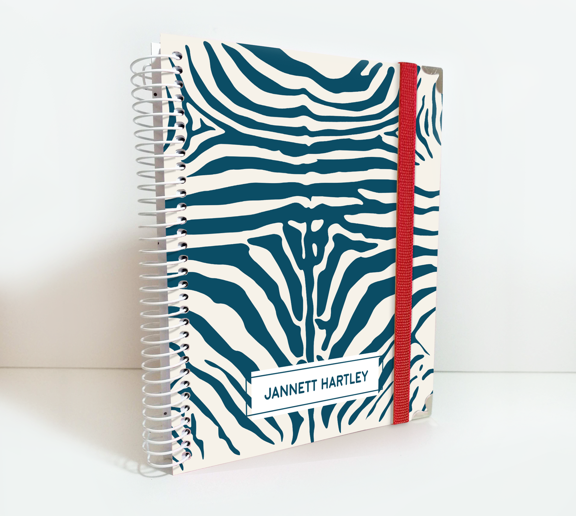 Personalized Weekly Planner Zebra Print Cover by kasefazem for 2020/2021