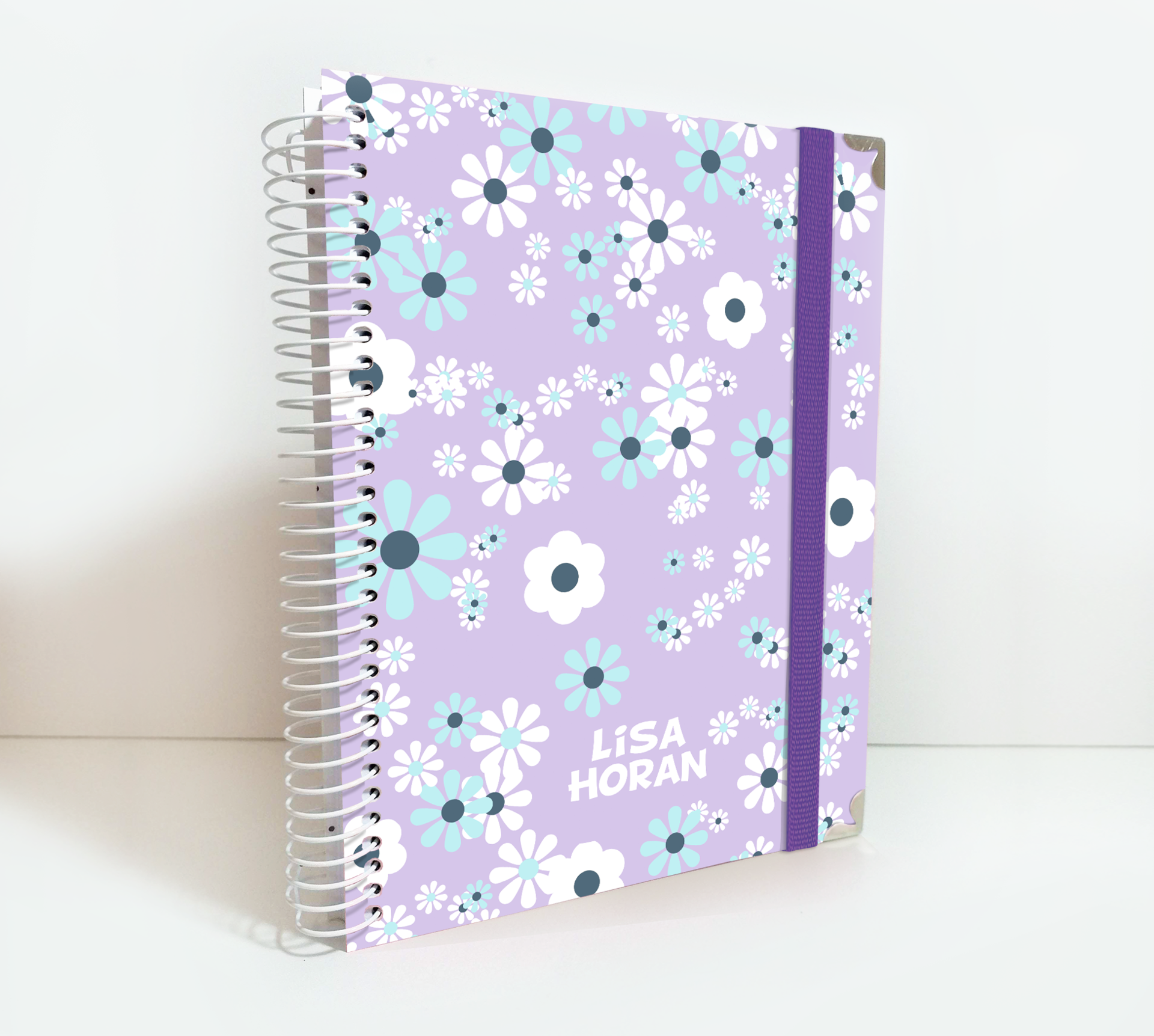Personalized 2020/21 Weekly Planner Purple Spring Daisies Theme, NO33