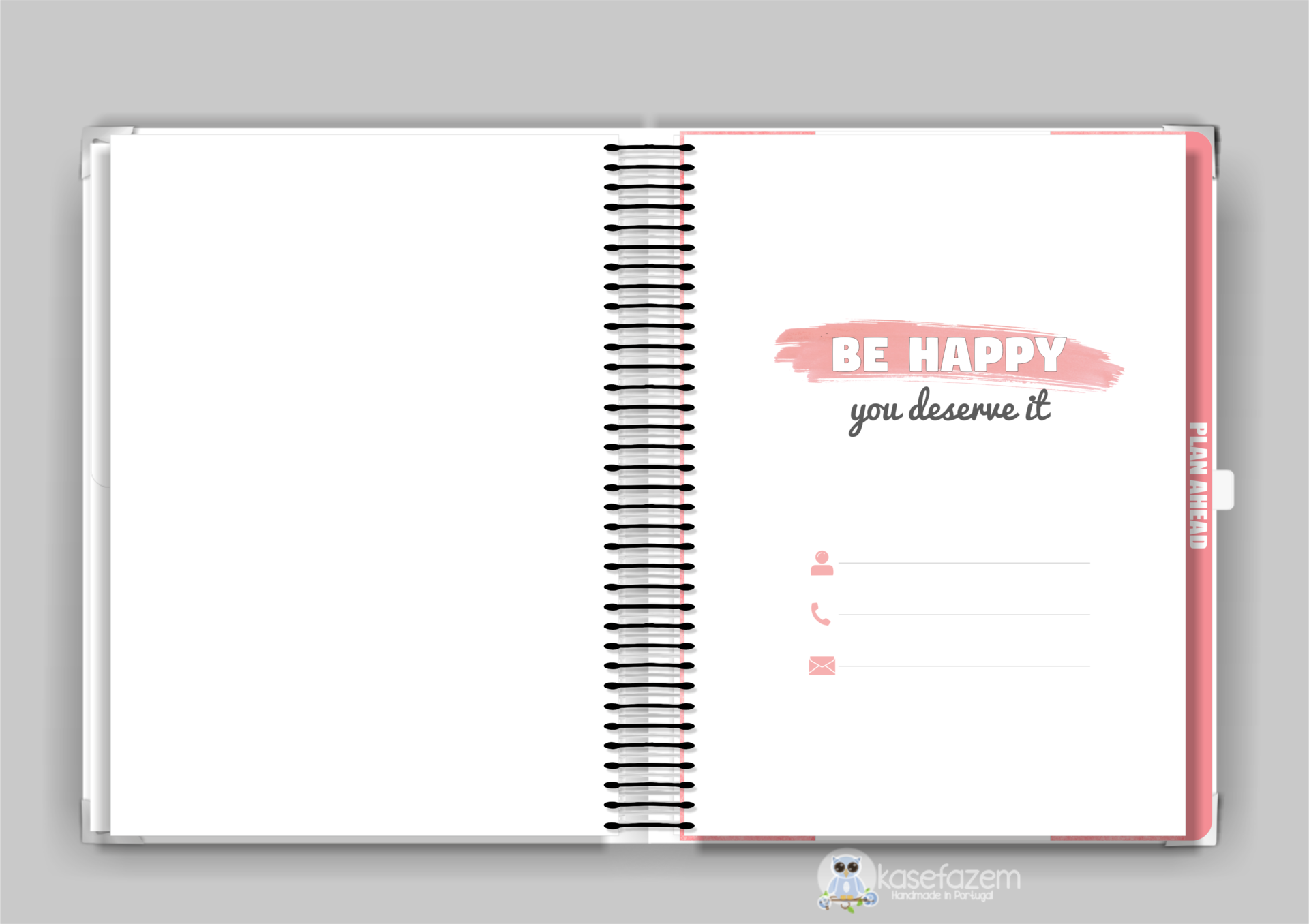 kasefazem personalized planner personal information
