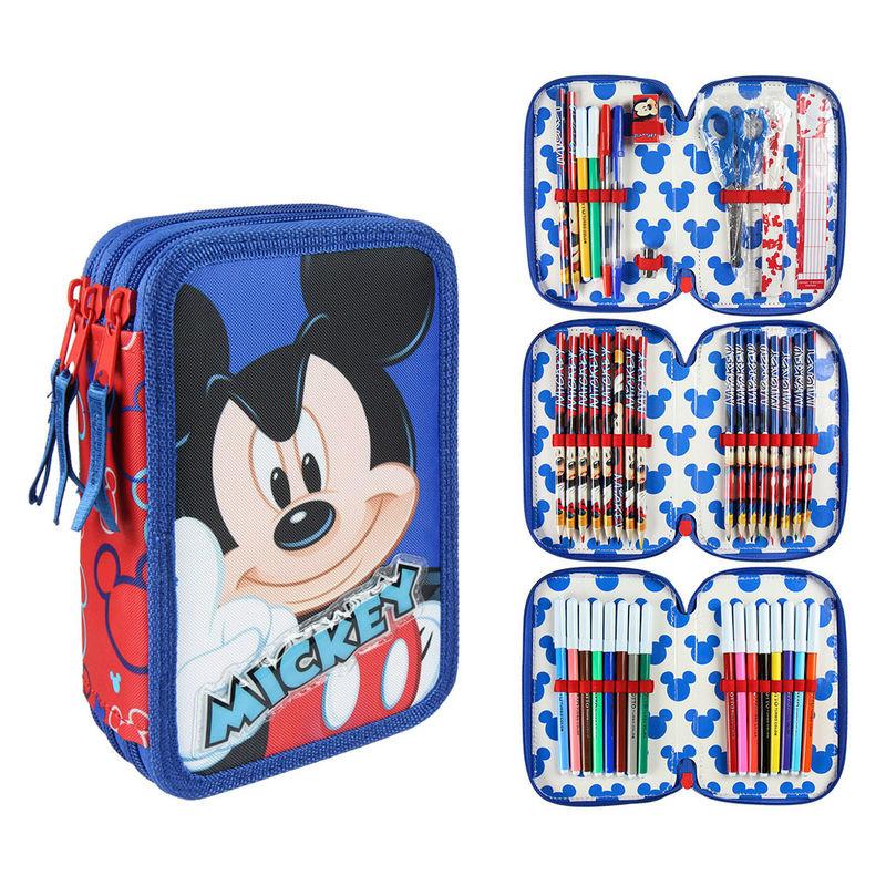 Estojo triplo completo Giotto Mickey Disney