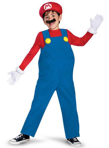 Fato de Mario Bros deluxe para menino