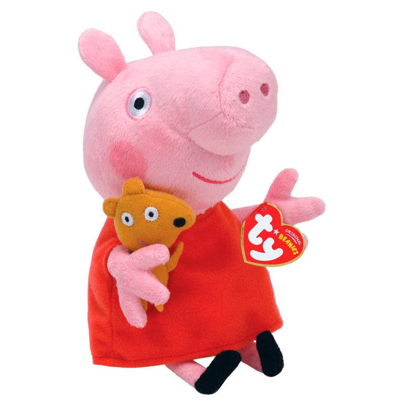 Peluche TY Beanie Boos Peppa Pig 16cm