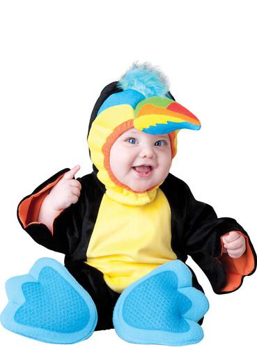 Fato de tucano colorido para bebé
