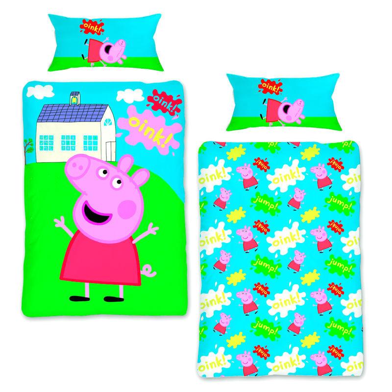 Capa de edredon Peppa Pig cama 90cm
