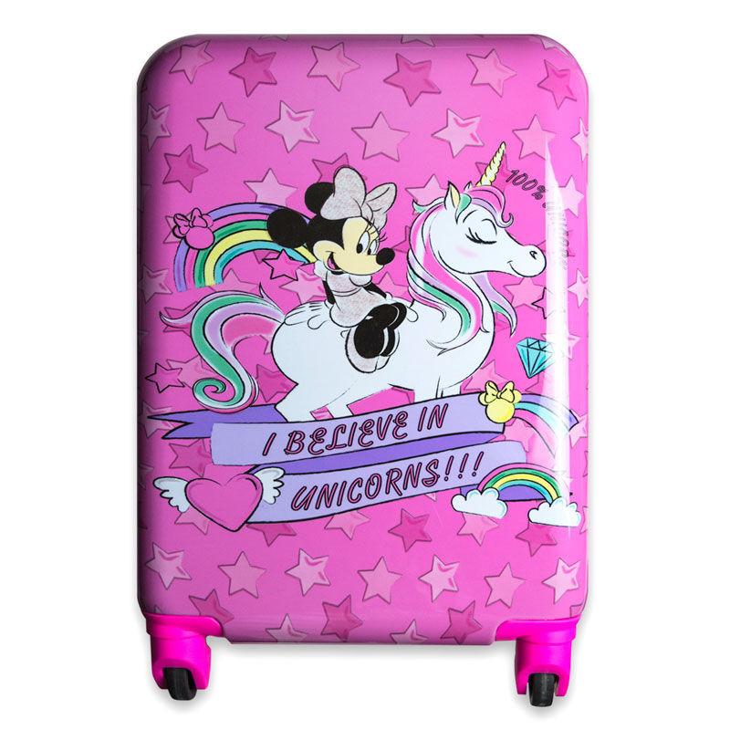 Trolley/Mala de viagem ABS Minnie Disney 4 rodas 48cm