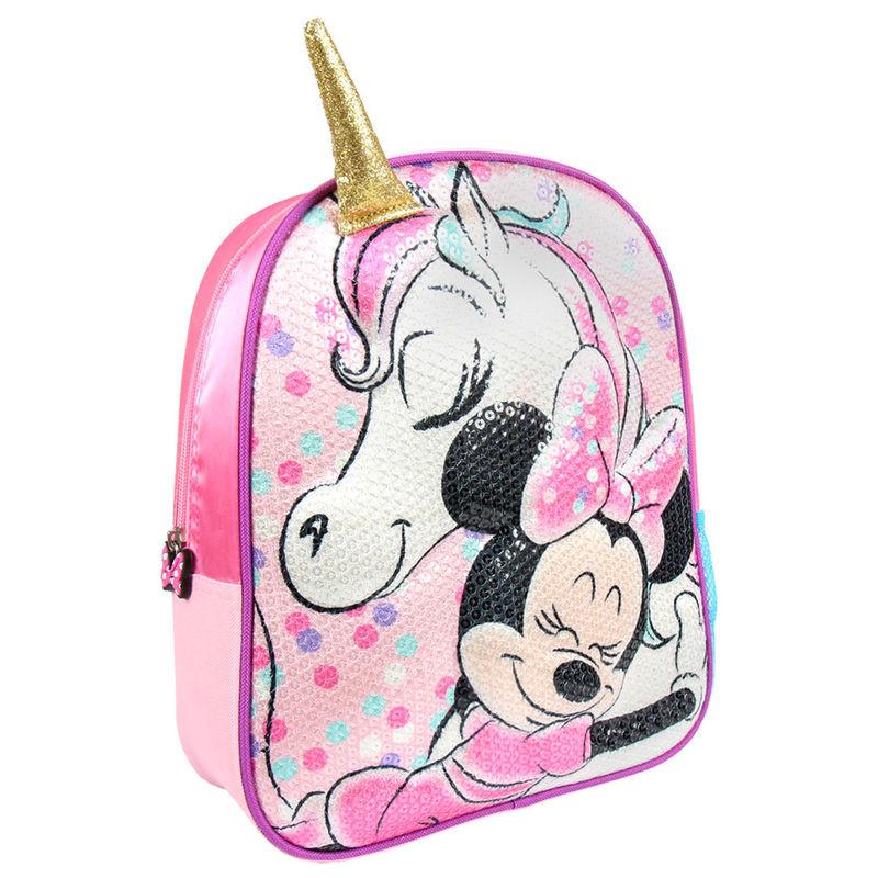 Mochila pré-escolar 3D Minnie Disney unicornio 31cm