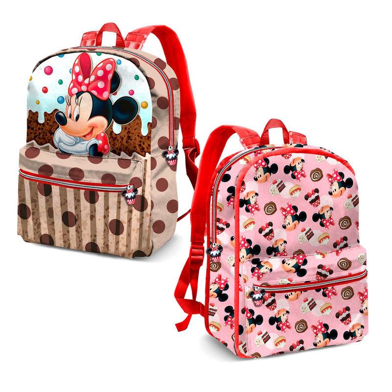 Mochila pré-escolar reversível Minnie Disney Muffin 31cm