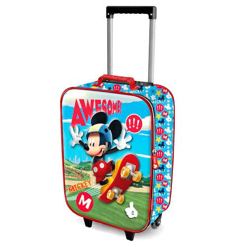 Trolley/Mala de viagem 3D Mickey Skater Disney 52cm