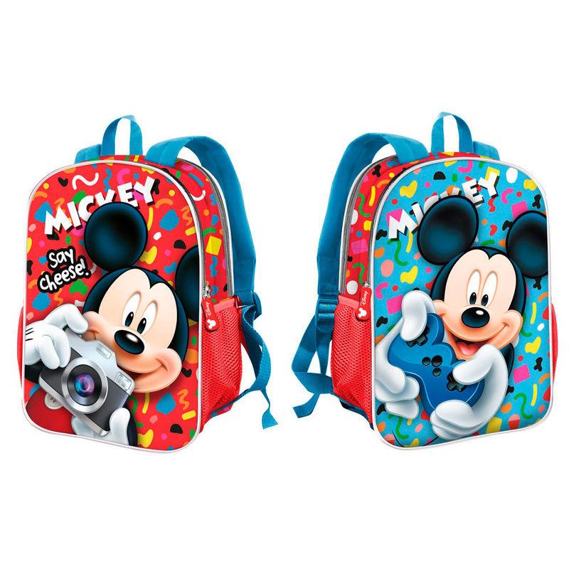 Mochila pré-escolar reversível 32cm de Mickey Mouse Disney