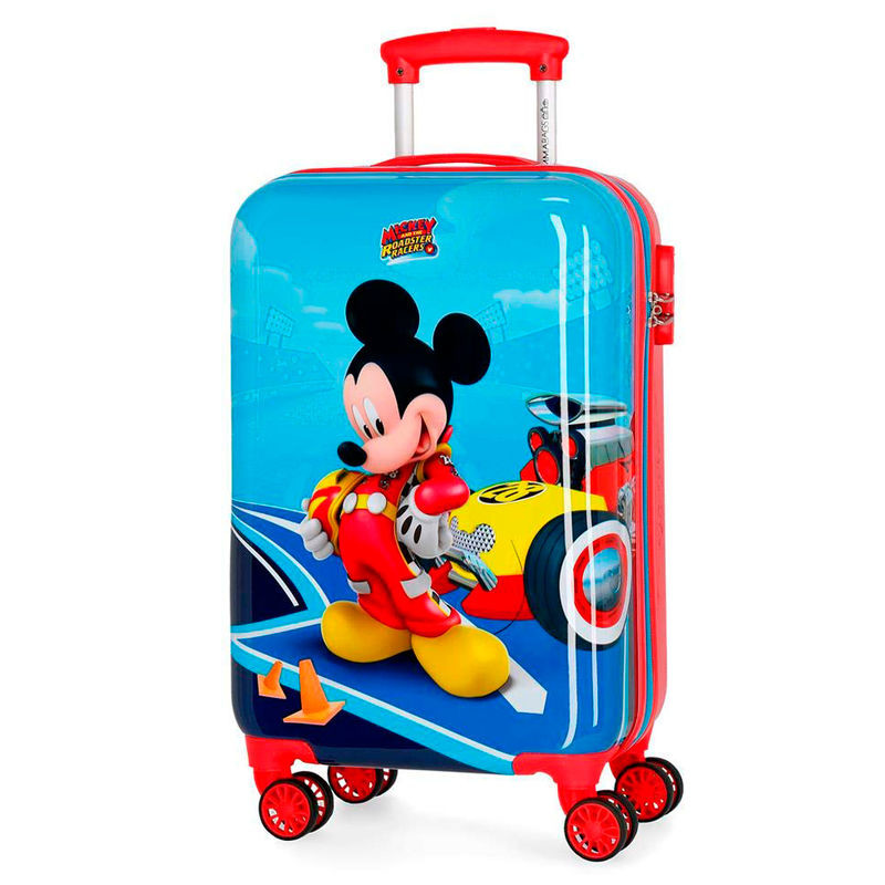 Mala / trolley ABS Lets Roll Mickey Disney 4rodas 55cm