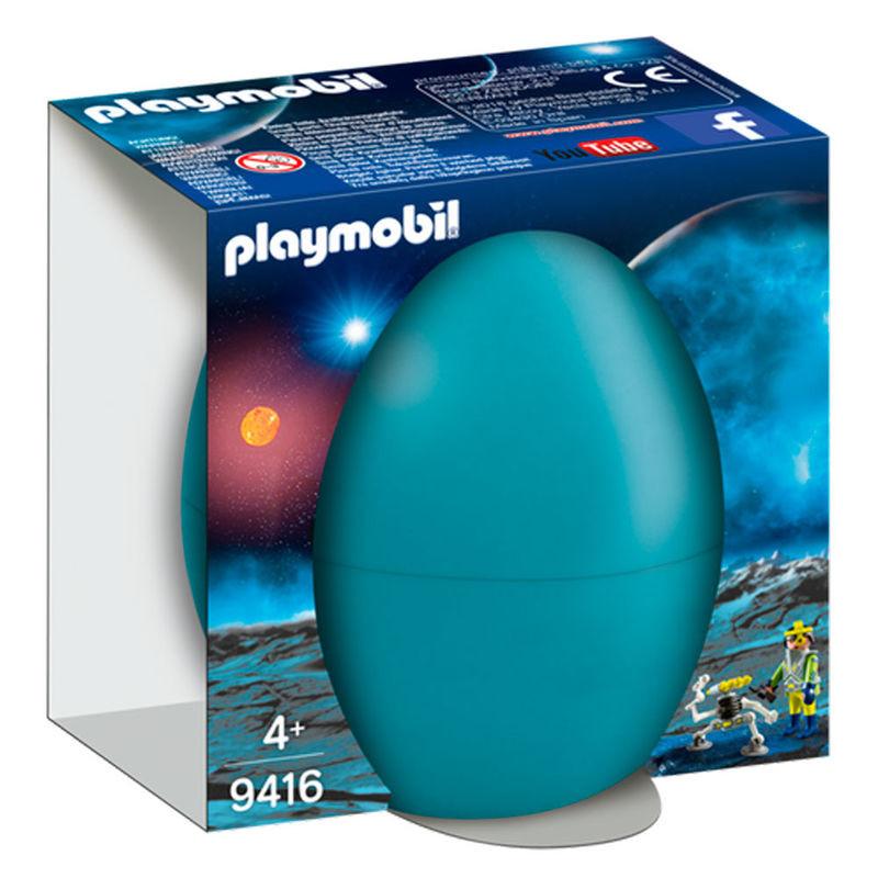 Agente Espacial com robot Playmobil Ovo
