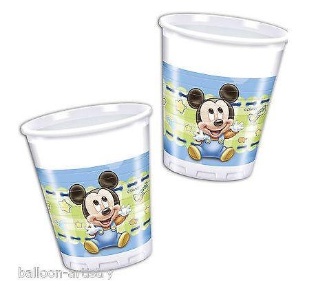 Aniversários : Pack 8 copos festa Mickey Baby Disney