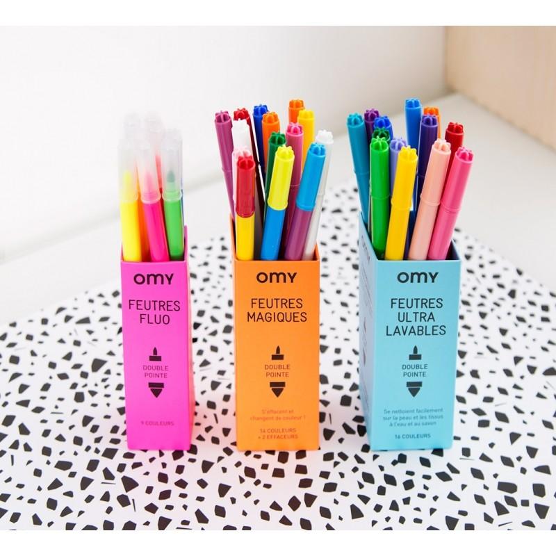 Conjunto de 16 canetas de feltro Ultra-laváveis