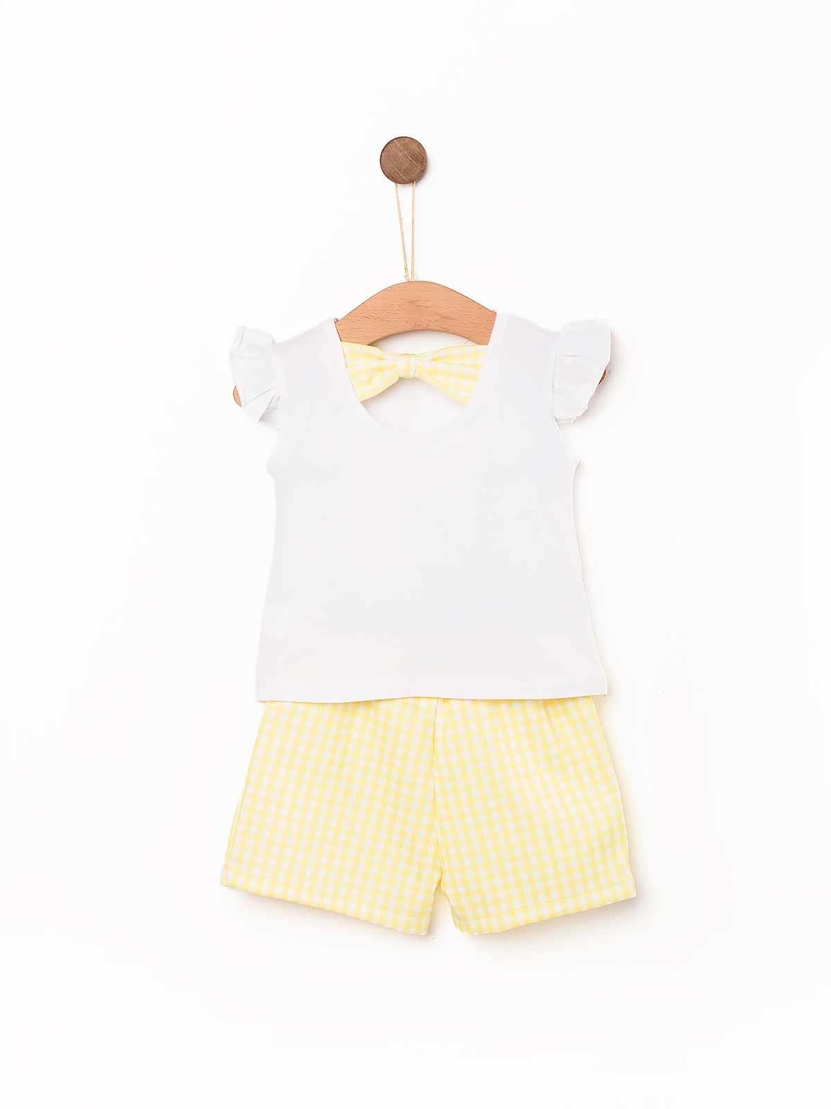 Conjunto bebé t-shirt e calção